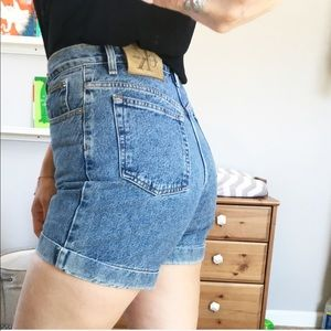 Calvin Klein vintage high waisted denim shorts